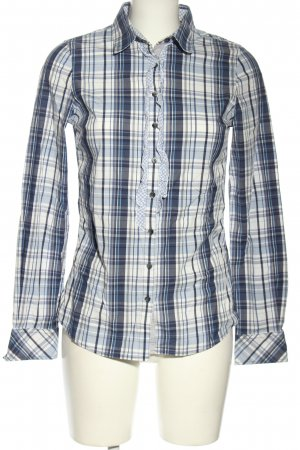 Tommy Hilfiger Langarmhemd blau-weiß Karomuster Casual-Look
