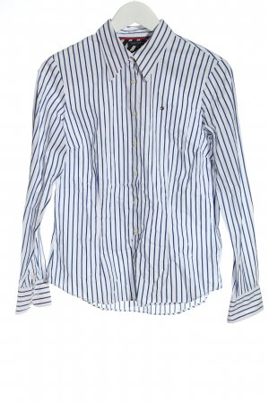 Tommy Hilfiger Long Sleeve Shirt white-blue striped pattern casual look