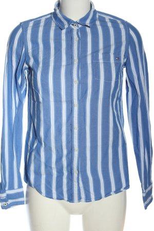 Tommy Hilfiger Camisa de manga larga blanco-azul estampado a rayas look casual