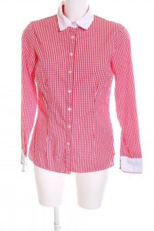 Tommy Hilfiger Langarmhemd weiß-rot Allover-Druck Casual-Look