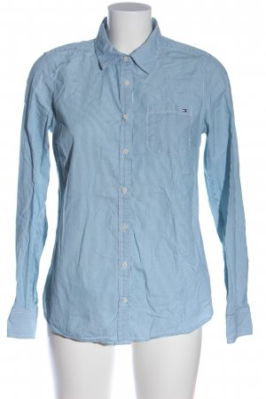 Tommy Hilfiger Long Sleeve Shirt blue-white striped pattern business style