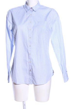 Tommy Hilfiger Langarmhemd blau-weiß Allover-Druck Business-Look