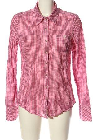 Tommy Hilfiger Langarmhemd pink-weiß Allover-Druck Elegant