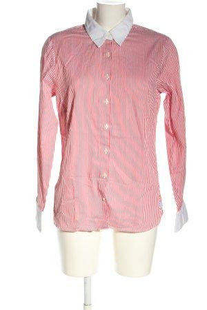 Tommy Hilfiger Camisa de manga larga rosa-blanco estampado a rayas