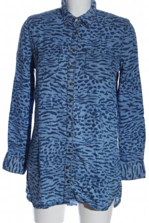 Tommy Hilfiger Langarmhemd blau Allover-Druck extravaganter Stil