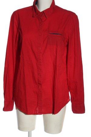 Tommy Hilfiger Langarmhemd rot-schwarz Allover-Druck Casual-Look