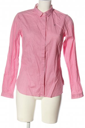 Tommy Hilfiger Langarmhemd pink-weiß Allover-Druck Business-Look