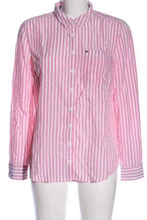 Tommy Hilfiger Langarmhemd weiß-pink Allover-Druck Casual-Look