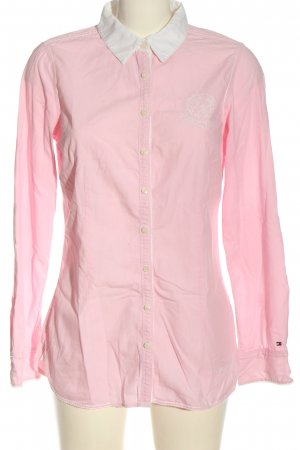 Tommy Hilfiger Langarmhemd pink-weiß Business-Look