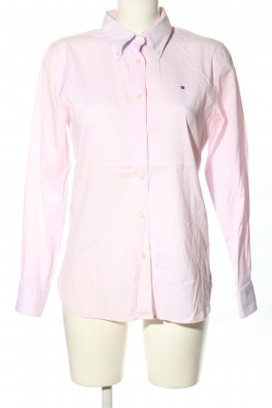 Tommy Hilfiger Langarmhemd pink Schriftzug gestickt Business-Look