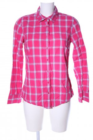 Tommy Hilfiger Langarmhemd pink-weiß Karomuster Business-Look
