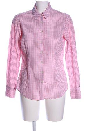 Tommy Hilfiger Langarmhemd pink-weiß Karomuster Business-Look