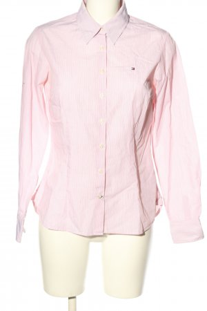 Tommy Hilfiger Langarmhemd rot-weiß Streifenmuster Casual-Look