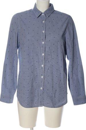 Tommy Hilfiger Langarmhemd blau-weiß Allover-Druck Casual-Look
