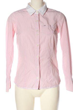Tommy Hilfiger Langarmhemd pink-weiß Streifenmuster Business-Look