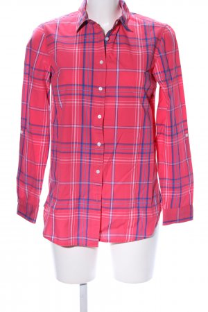 Tommy Hilfiger Camicia a maniche lunghe rosso-blu motivo a quadri stile classico