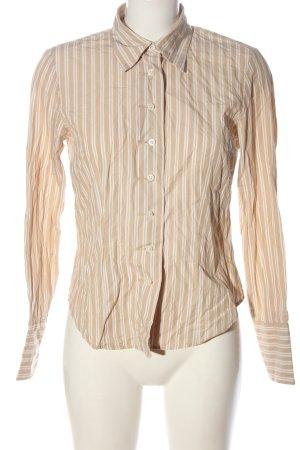 Tommy Hilfiger Langarmhemd creme-weiß Streifenmuster Business-Look