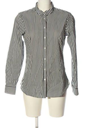 Tommy Hilfiger Langarmhemd weiß-schwarz Streifenmuster Casual-Look