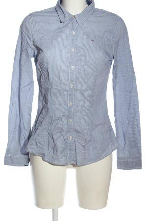 Tommy Hilfiger Camisa de manga larga azul-blanco estampado a rayas look casual
