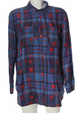 Tommy Hilfiger Langarmhemd blau-rot Allover-Druck Casual-Look