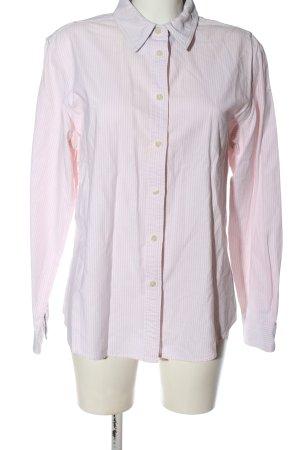 Tommy Hilfiger Chemise à manches longues rose-blanc motif rayé