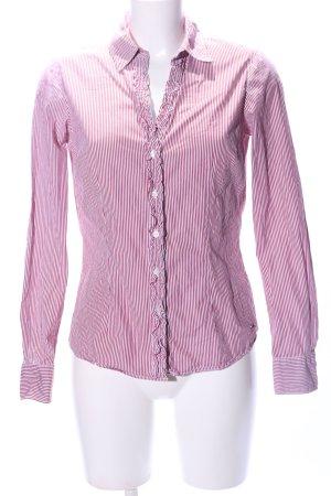 Tommy Hilfiger Camicia a maniche lunghe rosa-bianco motivo a righe stile casual