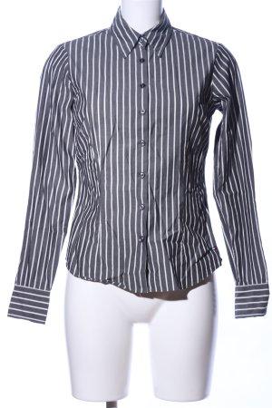 Tommy Hilfiger Langarmhemd hellgrau-weiß Streifenmuster Casual-Look