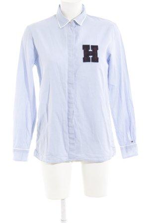 Tommy Hilfiger Langarmhemd himmelblau-weiß Streifenmuster schlichter Stil