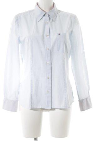 Tommy Hilfiger Langarmhemd kornblumenblau Karomuster Street-Fashion-Look