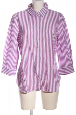 Tommy Hilfiger Langarmhemd lila-weiß Streifenmuster Casual-Look