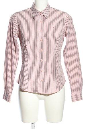 Tommy Hilfiger Camisa de manga larga rosa-gris claro estampado a rayas
