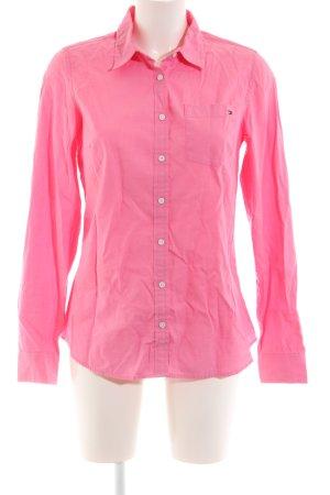 Tommy Hilfiger Langarmhemd rosa klassischer Stil