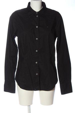 Tommy Hilfiger Shirt met lange mouwen zwart casual uitstraling