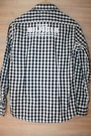 Tommy Hilfiger Camicia a maniche lunghe bianco-nero Cotone