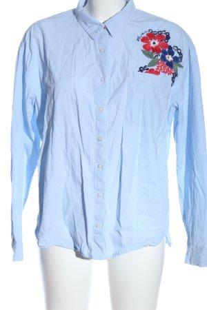 Tommy Hilfiger Koszula z długim rękawem biały-niebieski Wzór w kwiaty