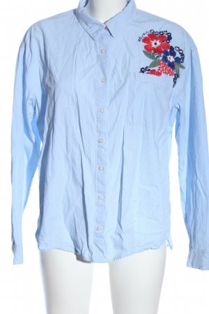 Tommy Hilfiger Langarmhemd weiß-blau Blumenmuster Casual-Look