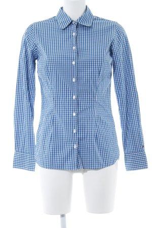 Tommy Hilfiger Langarmhemd weiß-blau Karomuster Casual-Look