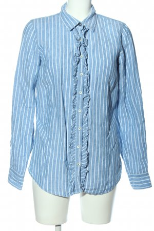 Tommy Hilfiger Langarmhemd weiß-blau Streifenmuster Casual-Look