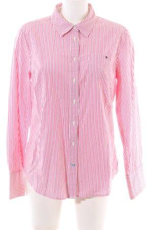 Tommy Hilfiger Shirt met lange mouwen wit-rood gestreept patroon