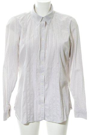 Tommy Hilfiger Langarmhemd wollweiß-graubraun Streifenmuster Business-Look