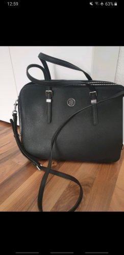Tommy Hilfiger Laptop bag black-silver-colored