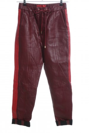 Tommy Hilfiger Lederhose rot Casual-Look