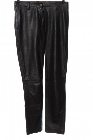Tommy Hilfiger Pantalone in pelle nero stile casual