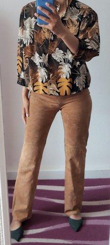 Tommy Hilfiger Skórzane spodnie jasnobrązowy