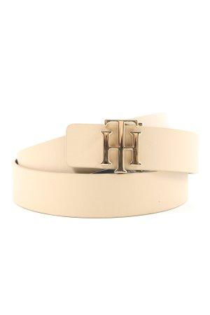 Tommy Hilfiger Cinturón de cuero de imitación crema look casual