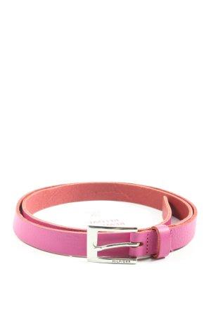 Tommy Hilfiger Cinturón de cuero de imitación rosa look casual