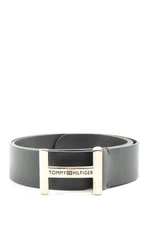 Tommy Hilfiger Lederimitatgürtel schwarz-silberfarben Casual-Look