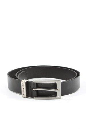 Tommy Hilfiger Cinturón de cuero de imitación negro look casual