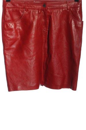 Tommy Hilfiger Lederrock rot Elegant