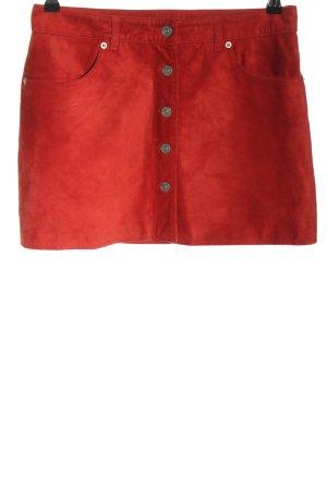 Tommy Hilfiger Jupe en cuir rouge style décontracté